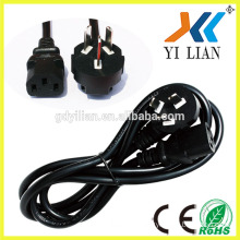 China Plugs with CCC Approval china standard plug power cord standard AC china power plug power cord