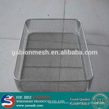 Cesta de malha de arame / cestas de armazenamento de malha de arame / cestas de malha de arame de aço inoxidável