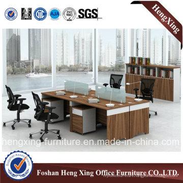 4 Seats Office Partation Workstation with Mobile Pedestal (HX-CRV003)