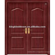 ПВХ дверь / деревянные двери с ПВХ листового металла (JKD-1812) для двойной двери дизайн
