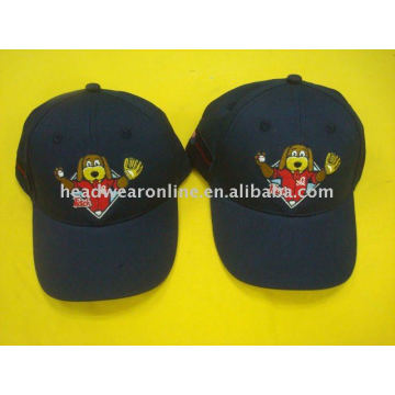 cartoon kid caps with embroidery logo