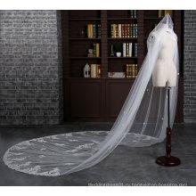 Новый Собор длина 3 метра цвета слоновой кости вуаль венчания с расческой