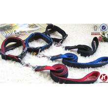 Fashion wholesale decorative weaving jean dog belt collar and leash led
