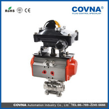 3pc air pneumatic ball valve with limit switch