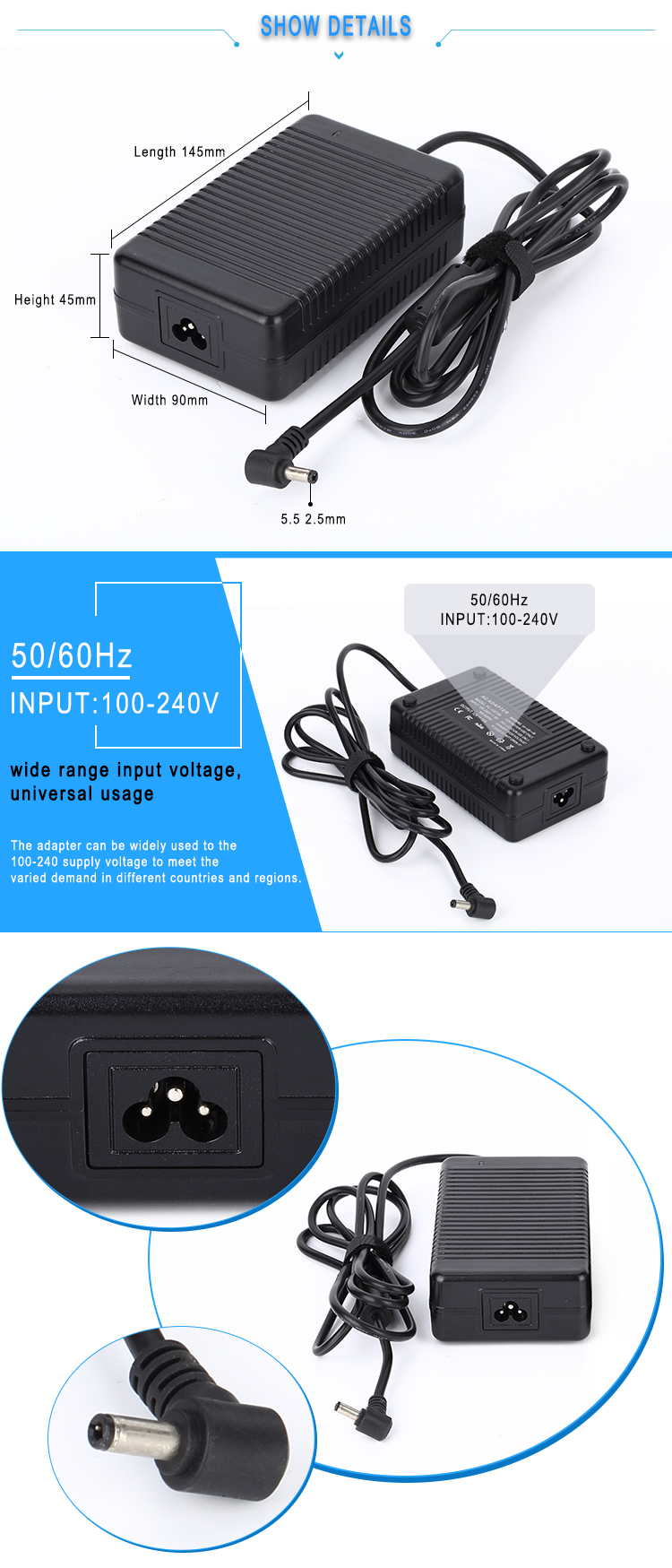 5v 9a power adapter