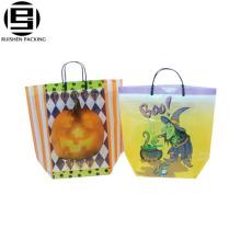 Basket Shape HDPE Printing Logo Shopping Bags Packing Bags