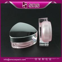 Plástico cor rosa vazio frasco acrílico cosméticos 15g