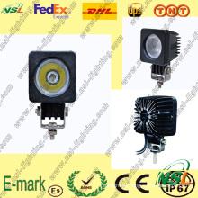 ¡Cima! ! Luz de trabajo LED de 10W, Luz de trabajo LED Creee, Luz de trabajo LED Spot / Flood para camiones