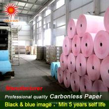 Papier de papier autocopiant continu de papier de papier de haute qualité d'ordinateur de haute qualité pour des billets de banque