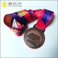 Custom Running Marathon Sport Medal and sublimation lanyard