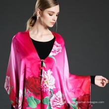 Mei Red Digital Druck Schal Schal mit Knöpfen