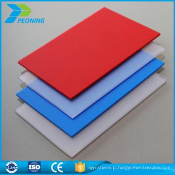 Folha plástica de policarbonato translúcido de PVC
