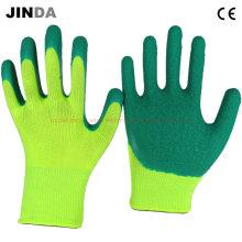 Luvas de proteção protetora de laboratório revestido com látex (LS215)