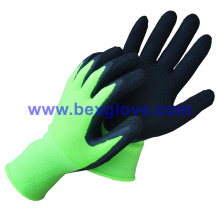 Pretty Color, Foam Finish, Work Glove, Garden Glove