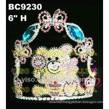 bear butterfly crystal tiara