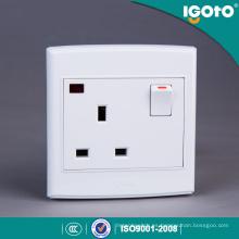 Igoto British Standard 3 Pin 13 a Interruptor de pared y zócalo con neón