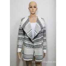 Chandail de cardigan tricoté acrylique Lady Fashion (YKY2006)