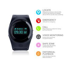 Relógio inteligente GPS pessoal com botão SOS