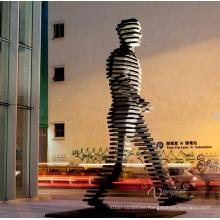 art deco walking east statue city decoration large famous morden art sculpture