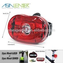 2pcs LED rouge + 1pc rouge SMD vélo lampe