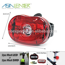 2pcs Red LED + 1pc Red SMD LED Bike Light