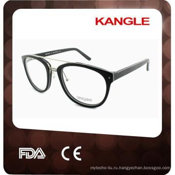 Горячая распродажа модный ацетат с металл оптический очки кадров для 2017, сочетание очки
