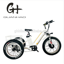 Electric Tricycle Adults Three Wheel Fat Tire Electric Cargo Bike