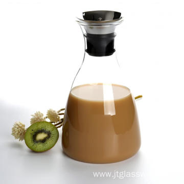 Pitcher With Stainless Steel Silicone Lid