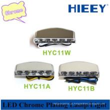 LED lâmpada de cromagem para caminhão luz decorativa para reboque