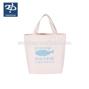 100% 12oz Organic Cotton Canvas Tote Bag With Customized Printing For Super Market