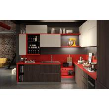 Gabinetes de cocina UV de alto brillo UV MDF