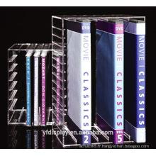 Support acrylique clair livre sur mesure