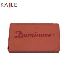 Benutzerdefinierte Domino Doppel 6 in Kunststoffbox