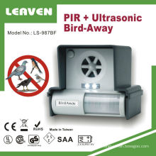 Ultrasonic Bird Scarer Bird Away Repeller with Strobe