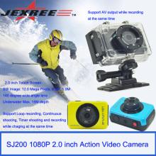 JEXREE SJ200 caméra numérique imperméable à l'eau appareil photo d'action avec forfait de vente au détail