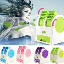 Ângulos ajustáveis ​​portáteis Bladeless duplos do Desktop Scented Air Conditioning Air Conditioning USB Cooler