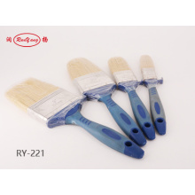 Paint Brush With Blue Rubber Plastic Handle