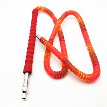Tuyau de Shisha de narguilé acrylique rouge de 1.8m avec l'embouchure en verre (ES-HH-011-2)