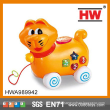 Cartoon Animals pull line and Go Toy Cars Play Set for Baby moving toy cat