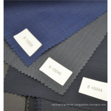 Blue color twill brazilian wool suiting fabric for men