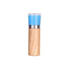 Eco friendly adjustable hand manual wooden salt and pepper grinder mill