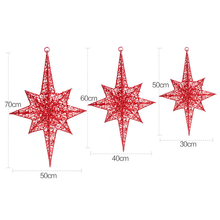 Newly Designed Christmas Polygonal Metal Star Decorations