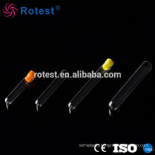 clear laboratory plastic test tubes