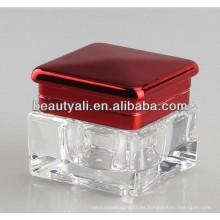10g de plástico acrílico claro Tarros Tornillo Cap