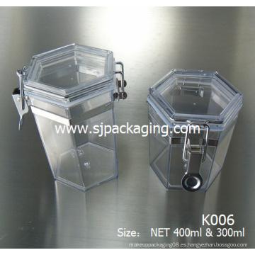 300ml 400ml 750ml 1000ml Máscara de latas Máscara Buttle tarro cosmético de plástico airless