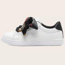 2021 board women causal Silk belt shoes