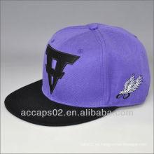 Sombrero de béisbol plano snapback brim