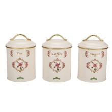 Set of 3 tea sugar coffee canister