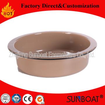 Traditional Sunboat Enamel Round Tray Kitchenware