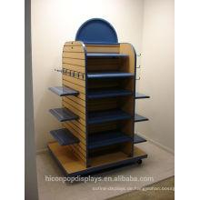Erhöhung Ihrer Marke Wert Kleidung Einzelhandel Shop Holz Gondel Regal Display Kleidung Rack Boden Display